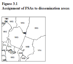 canada post fsa map forward sortation area boundary file reference guide census year