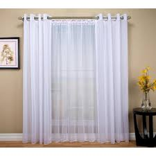 Grommet Curtains 63 Length Semi Opaque White No 918 Casual Montego Woven Grommet Top Curtain