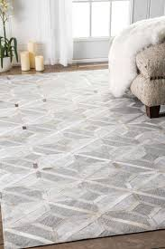 mandovicowhide diamond trellis rug shaggy rugs contemporary and
