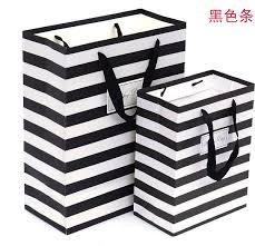 black and white striped gift bags aliexpress buy 26x32x12cm stripe simplicity design ribbon