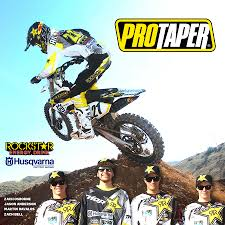 rockstar motocross gear dirt bike magazine pro taper partners with rockstar husqvarna