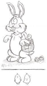 easter bunny sketch by zimpy222 on deviantart