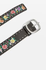 floral belt chain embroidered floral belt topshop
