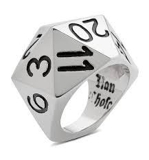 d20 spinner ring rings thinkgeek