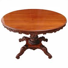 louis philippe dining room furniture english regency round table with carved center pedestal circa