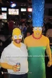 Marge Simpson Halloween Costume Coolest Diy Homer Marge Simpson Halloween Couple Costume