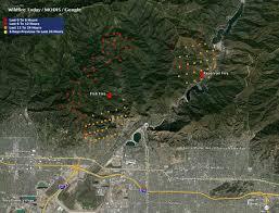 Los Angeles Freeway Map by California San Gabriel Complex Of Fires Near Los Angeles