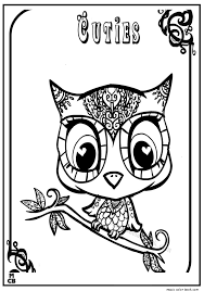 cuties littlest petshop coloring pages free 2