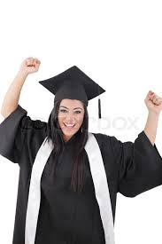 black cap and gown graduation of a woman dressed in a black gown stock photo colourbox