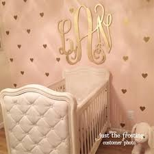Letter Wall Decals For Nursery by Gold Decals Gold Heart Wall Decals Confetti Heart Decals