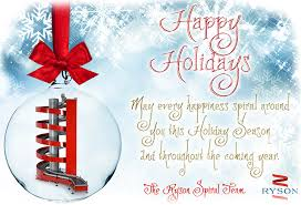 happy holidays from the spiral team ryson spiral conveyors