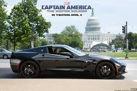 2014 corvette black 2014 chevrolet corvette in captain america sequel
