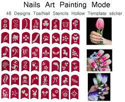 48 designs nail art painting stickers toe nail stickers nail