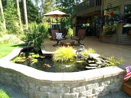 wooden garden ponds new water feature pond s epdm raised wooden