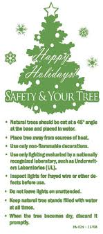 candle and tree safety outreach materials
