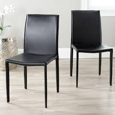 Gray Leather Dining Chairs Safavieh Becca Black Leather Dining Chair Mcr4502c The Home Depot