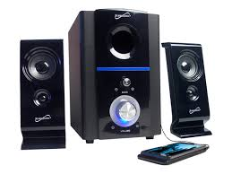 home theater system with fm radio supersonic 2 1 multimedia speaker system with usb sd inputs