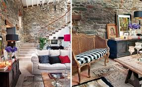 Charming Old House Renovation By Keeping The Stone Interior Walls - Old houses interior design