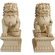 asian foo dogs fu dogs garden statues pair
