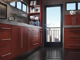 cherry wood light grey glass panel door kitchen cabinets melbourne