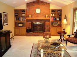 family room designs with fireplace brick fireplace in family room with built bookcases beth ward loversiq