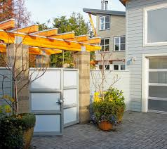 modern gate with trellis l andscape modern and contemporary garden