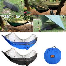 outdoor portable camping parachute hammock hanging swing bed with