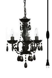 Ebay Black Chandelier Original Color 3 Light Mini In Black Chandelier For H16