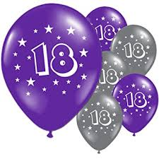balloons for 18th birthday 20 purple and silver 18th birthday party balloons co uk