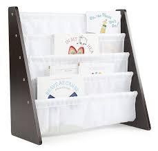 amazon com tot tutors kids book rack storage bookshelf espresso