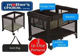Mothers Choice Change Table Mothers Choice Happy Pears 3 In 1 Portacot Bassinette Carry Bag