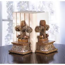 Home Decorative Accents Fleur De Lis Bookends Wholesale At Koehler Home Decor