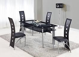d1058dt dining set 5pc in black by global furniture usa