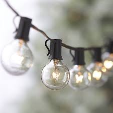 Clear Globe String Lights Outdoor by Outdoor Light String 100ft Globe Patio String Lights 100 Foot