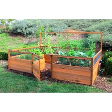 cedar complete raised garden bed kit 8 u0027 x 12 u0027 x 20