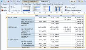Sort A Pivot Table Creating Bi Publisher Layout Templates