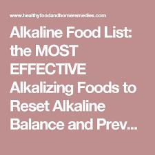 alkaline food list the most effective alkalizing foods to reset