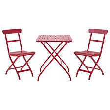 red pub table and chairs lacko table chairs outdoor ikea pertaining to childrens bistro and