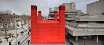 signal shed haworth tompkins gives london s national theatre a signal red