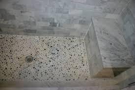 river pebble tile shower floor installing pebble tile shower floor