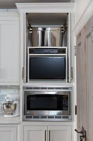 kitchen tv ideas kitchen tv in cabinet with retractable doors transitional