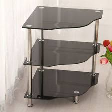 Black Glass Side Table Glass Side Tables Ebay