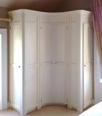 Fitted Bedroom Furniture Ideas Curved Fitted Corner Wardrobe Hand Painted In A Cream Www