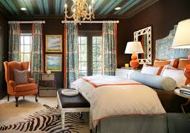Brown And Blue Home Decor Pleasing 40 Blue And Orange Bedroom Pictures Design Decoration Of