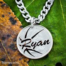 necklaces with your name basketball name necklace cut coin quarter sports jewelry namecoins