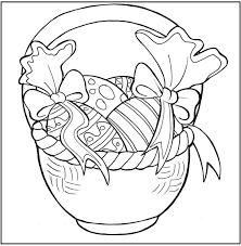 decoration easter eggs in basket coloring pages for kids cfh
