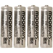 solar batteries for outdoor lights moonrays rechargeable 600 mah nicd aa batteries for solar powered