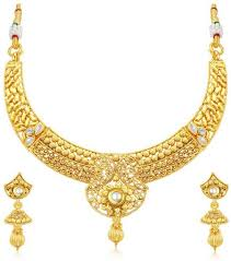 zircon necklace sets images Jewels galaxy designer zircon gold plated plated copper necklace jpeg