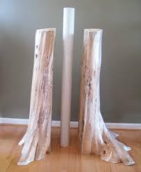 authentic cedar log basement pole covers support post wrap rustic
