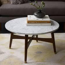 reeve mid century coffee table marble walnut west elm au